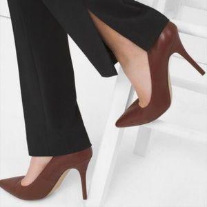 Brown stiletto heels